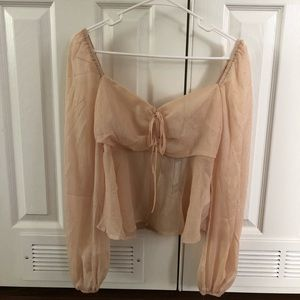 Cream top from Nasty Gal